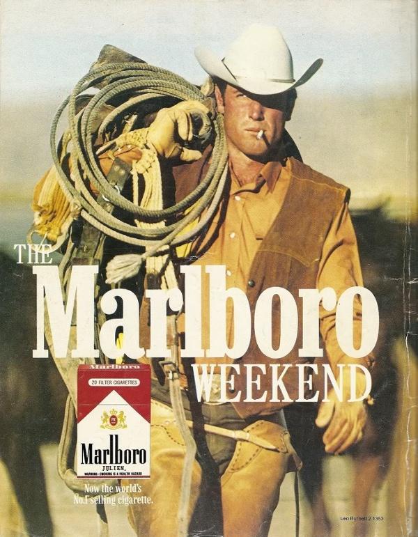 Реклама и образ жизни с Marlboro: Marlboro Man