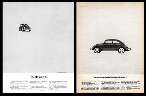 Реклама Volkswagen: Think Small: думай немного