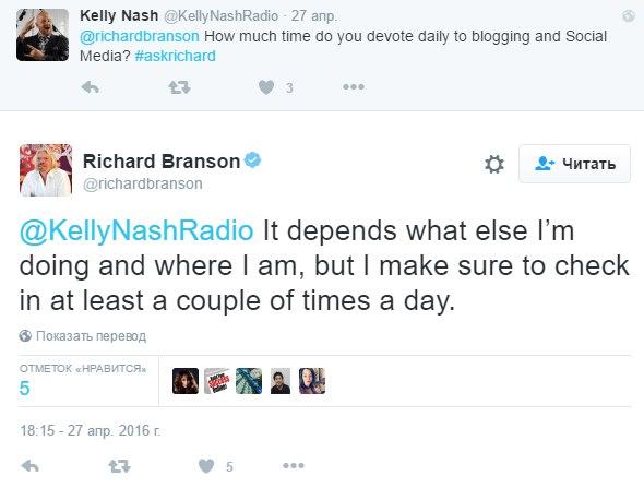 Ответы Ричарда Брэнсона в социальных сетях