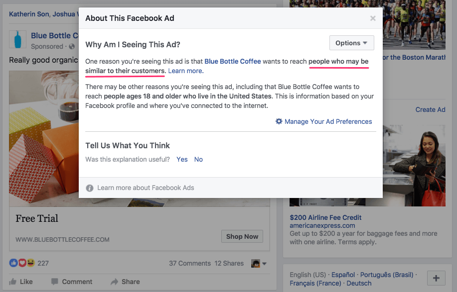 Реклама с настройкой на похожую вудиторию в Фейсбук