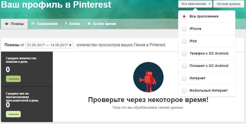 Профиль компании в Pinterest