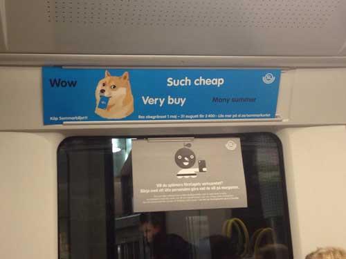 Мем Doge в шведском метро
