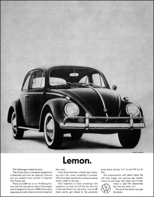 Рекламная кампания Volkswagen Лимон (Lemon)
