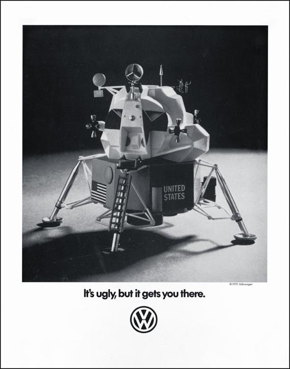 Плакат Билла Бернбаха для Volkswagen - Уродливый (Ugly)
