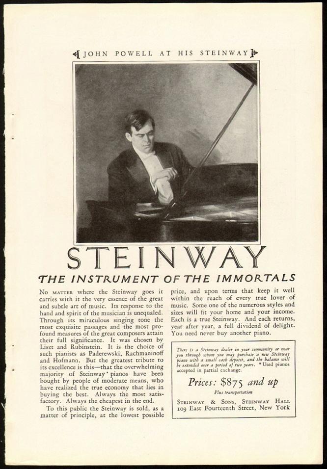 Раймонд Рубикам создатель рекламной кампании - рояли Steinway
