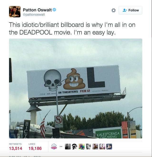 Смайлы и реклама DeadPool