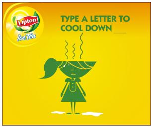 Пример удачного рекламного баннера Lipton