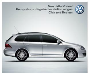 Баннер рекламы авто VW