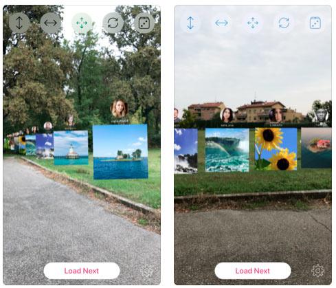 Приложение для iOS, показывает фото из Instagram в дополненной реальности