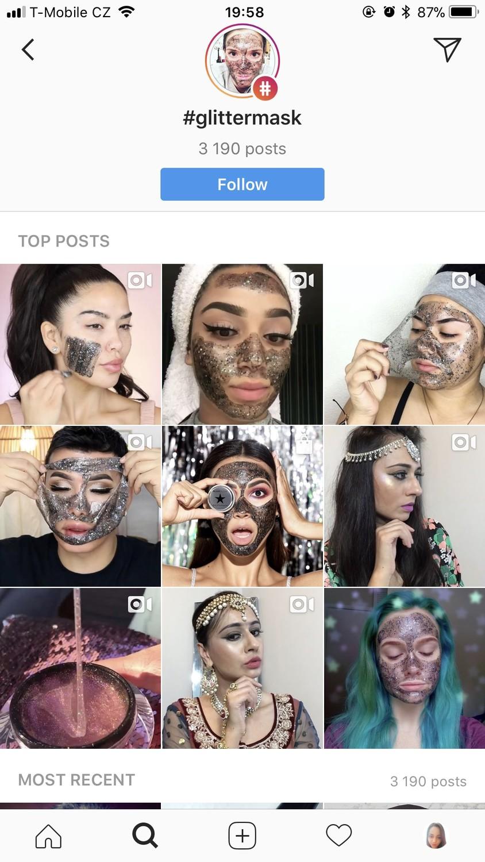 Продвижение масок GLAMGLOW в Инстаграм и влияние внешнего вида