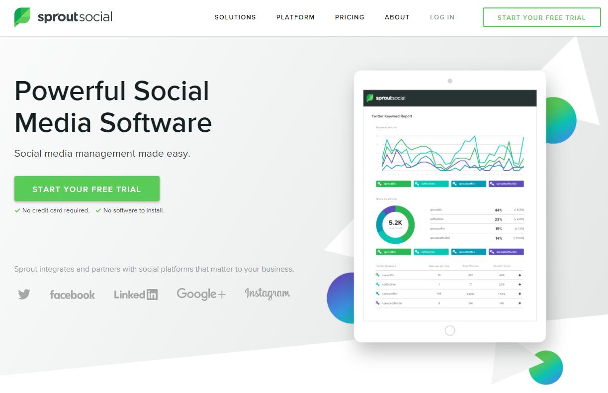 Sprout Social - инструмент для решения smm задач
