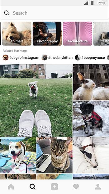 """Обновление раздела """"Интересное"""" в Instagram"""