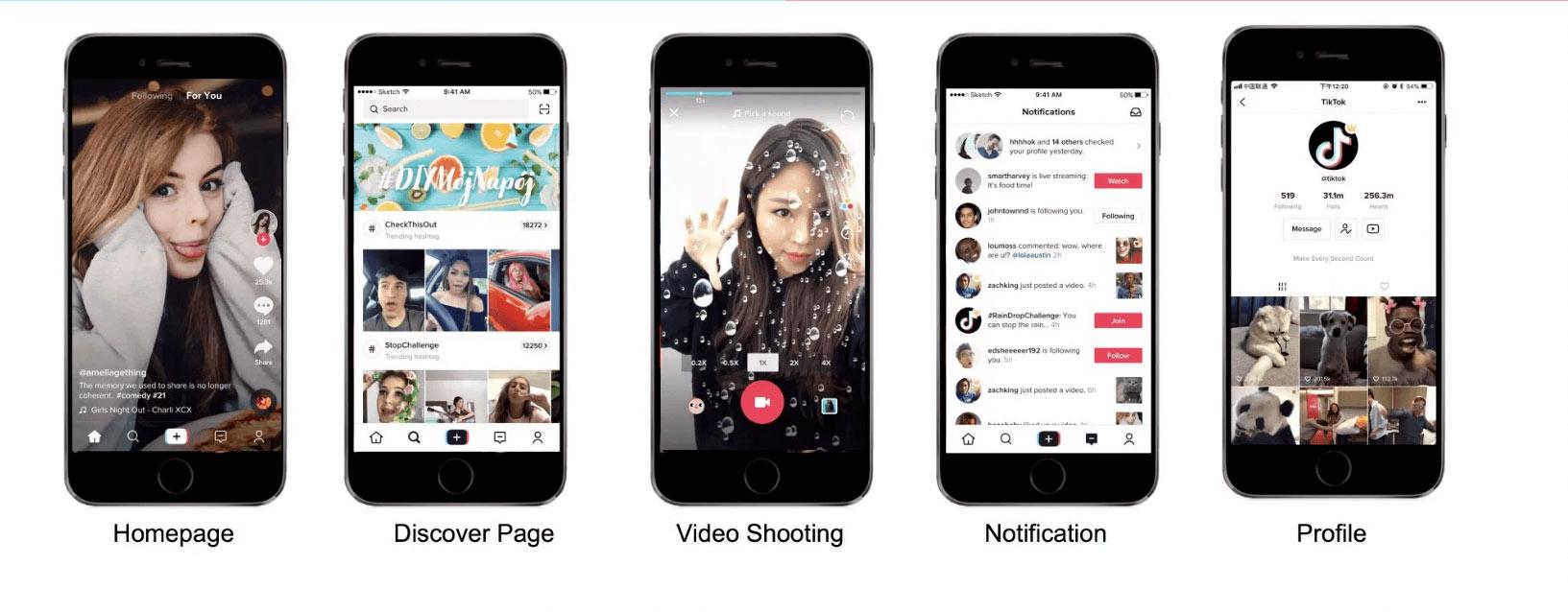 Что такое приложение Тик Ток, фото интерфейса