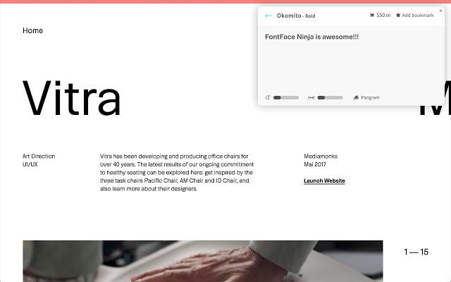 Плагин Fontface Ninja поможет определить шрифт на сайте