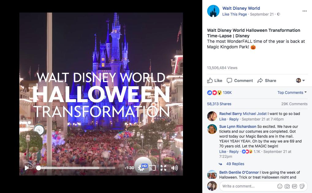 Публикация бэкстэйдж от Disney World