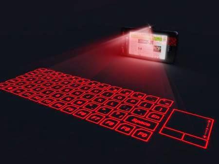 Проекционная клавиатура для удобной работы в дороге с телефона