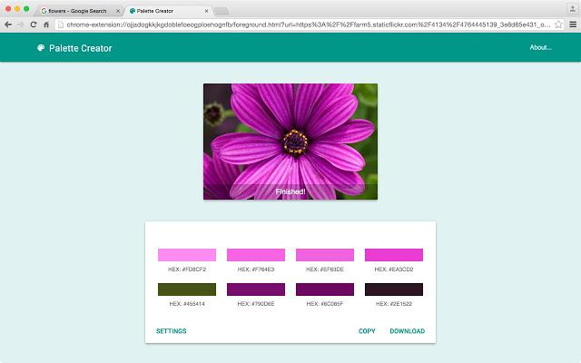 С помощью Palette Creator легко создавать цветовые схемы